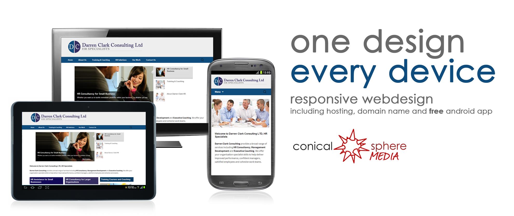 responsive website design conical sphere media
