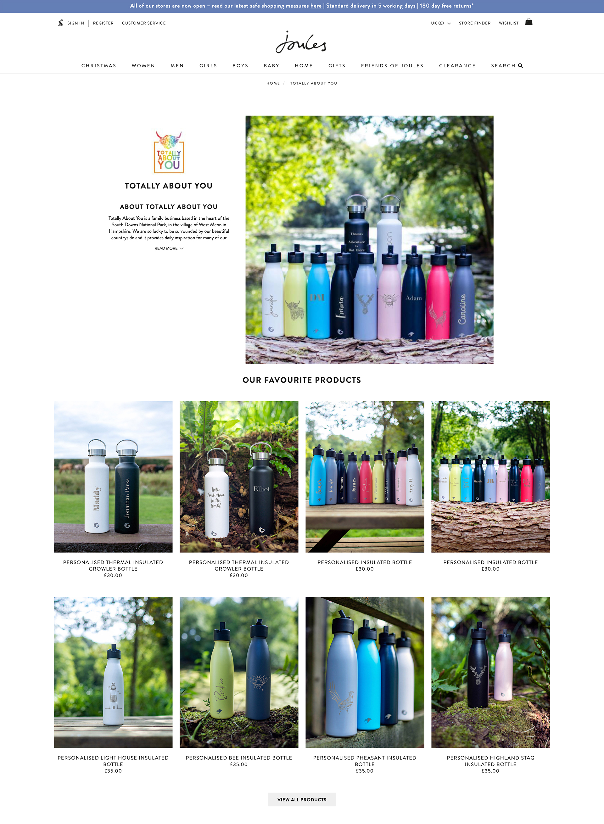 Product Photography Joules Online